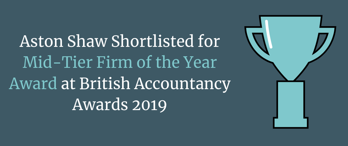 Aston Shaw Shortlisted for Mid-Tier Firm of the Year Award at British Accountancy Awards 2019