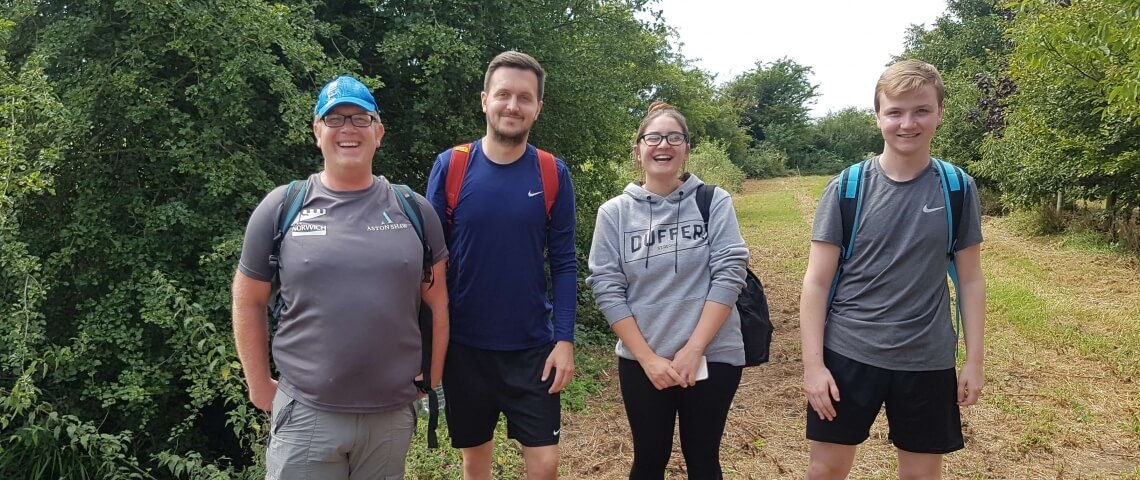 Staff from Local Accountancy Firm Complete 52 Mile Walk in 24 Hours for East Anglian Air Ambulance